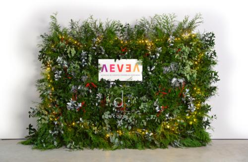 Jardín vertical con motivos navideños, Agencias de Eventos Españolas Asociadas