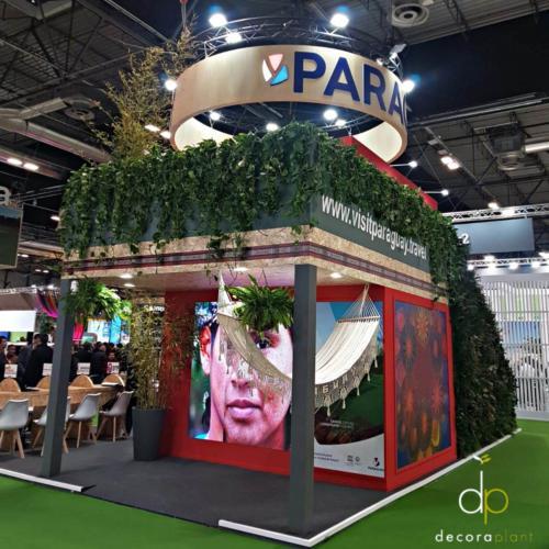 Jardín vertical natural stand Paraguay, FITUR 2020