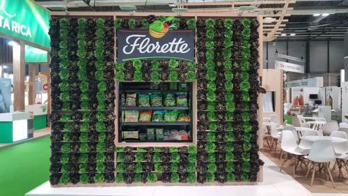 Jardín vertical con hortalizas naturales Florette Fruit Attraction