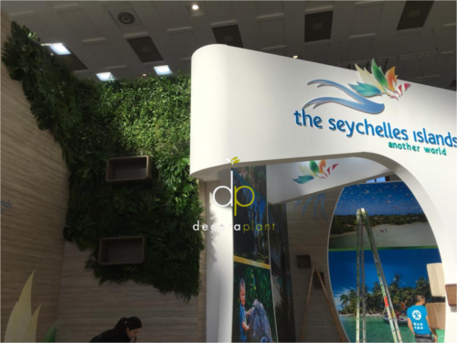 Jardín vertical con planta natural, The Seychelles Island, ITB Berlín